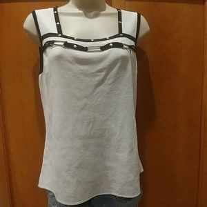 Cable & Gauge Tops - White and black sleeveless top